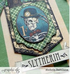 "Hogwarts house cards ""Slytherin"" - Nichola Battilana"