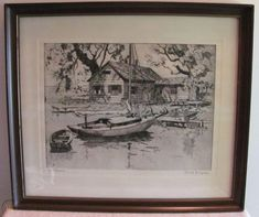 $69 2020 Framed Lionel Barrymore Print Talio-Crome Engraving POINT PLEASANT | #2105884213 Image C, Los Angeles Homes, Vintage Art Prints, Cool Pictures, Vintage World Maps, Scene, Frame, Painting, Picture Frame