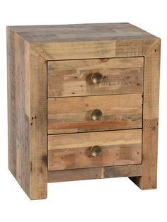 Kosas Home Hand-crafted Oscar Natural Recovered Shipping Pallets Nightstand