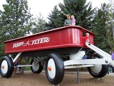 Radio Flyer Giant Red Wagon, Spokane, Washington Been there done that Red Flyer Wagon, Radio Flyer Wagons, Red Wagon, Spokane Washington, Washington State, Places To Travel, Places To Go, Roadside Attractions, Unusual Things
