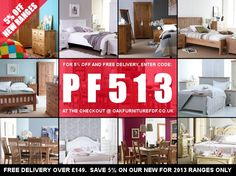 Save 5% on orders at our sister company; Factory Direct Furniture this weekend only!