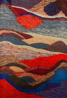 'Time and Tide' 2012 Gillian Adams tapestry weaving