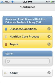 Over 300 nutrition recommendations from the Academy's Evidence Analysis Library available at your fingertips! Nutrition Apps, Nutrition And Dietetics, Learning, Health, Health Care, Salud, Study, Teaching, Studying