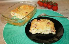 CLAFOUTIS CU TELEMEA, SPANAC SI ROSII CHERRY Cheddar, Quiche, Macaroni And Cheese, Pudding, Eggs, Dinner, Breakfast, Health, Ethnic Recipes