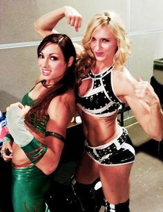 Charlotte and Becky Lynch