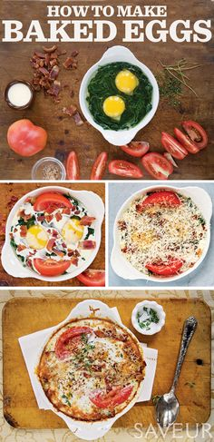 Baked Eggs | Baked eggs (sometimes called shirred eggs) are a simple, hearty breakfast. This recipe, which appeared in our special Breakfast issue (October 2008), produces firm whites and velvety yolks. | From: saveur.com