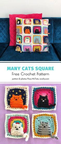 Granny Square Häkelanleitung, Granny Square Crochet Pattern, Crochet Squares, Knitting Squares, Crochet Diagram, Yarn Projects, Knitting Projects, Crochet Projects, Knitting Patterns