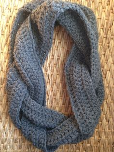 Crochet Braided Infinity Scarf on Etsy, $30.00