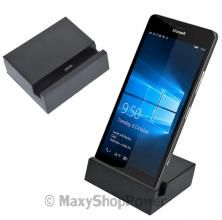 DOCK STATION MICROUSB TYPE C BASE DI RICARICA CHARGING DOCKING STATION NERA PER MICROSOFT LUMIA 950 950XL BLACK NERA NUOVA - SU WWW.MAXYSHOPPOWER.COM