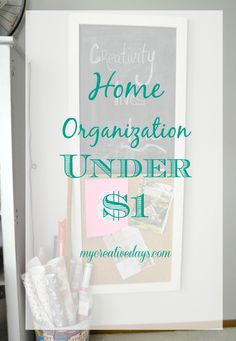 Getting organized in your home for under $1!! Make a command center to keep all your papers and schedules together in one place. Home organization from mycreativedays.com