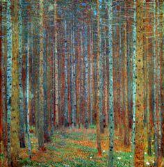 Resultado de imagen de gustav klimt trees