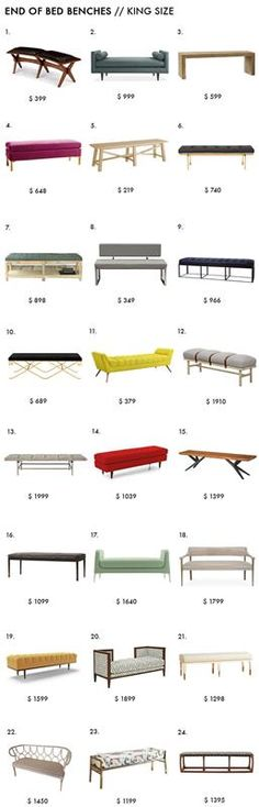 End of Bed Bench Roundup Emily Henderson Bedroom Design King Size-