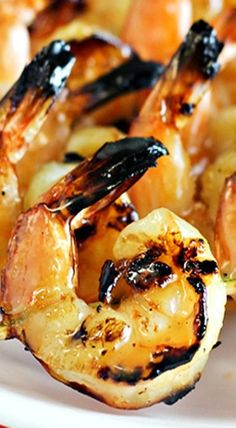 Serve Grilled Coconut-Rum Shrimp at your Memorial Day BBQ. Only 5 ingredients! Grilling Recipes, Fish Recipes, Seafood Recipes, Great Recipes, Cooking Recipes, Favorite Recipes, Healthy Recipes, Healthy Food, Recipies