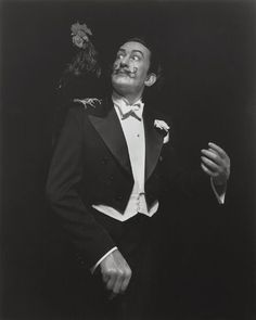 Salvador Dali by Sugimoto. Life-size in format, these single portraits of historical figures are exclusively shot against a dramatically lit, shadowy black background.