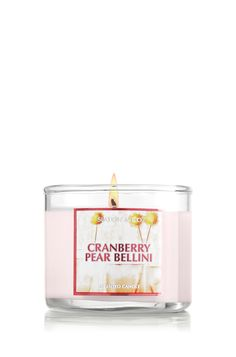 Cranberry Pear Bellini Mini Candle - Bath & Body Works (THIS ONE IS SO AWESOME TO!)