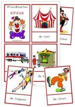 23 Woordkaarten Circus - klein + lidwoorden