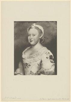 Anonymous   Portret van Carolina, prinses van Oranje-Nassau, Anonymous, Jean-Etienne Liotard, 1850 - 1949  