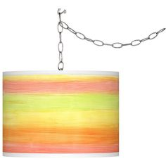 Giclee Gallery Swag Style Rainbow Mist Giclee Shade Plug-In Chandelier ($130) ❤ liked on Polyvore featuring home, lighting, ceiling lights, chandeliers, cord lights, cord light, plug in light, circle shades and swag style plug-in chandelier