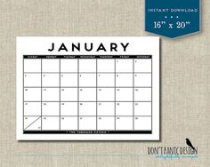Printable Adventure Desk Calendar   Month Adventure