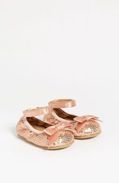 Stuart Weitzman 'Pali' Sequin Flat (Baby) (Online Only) Rose Gold 2 M - was $35.0, now $22.9 (34% Off). Picked by Olga @ Nordstrom