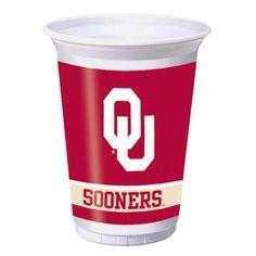 (96/case) Case of University of Oklahoma Plastic Cups, 20 Oz