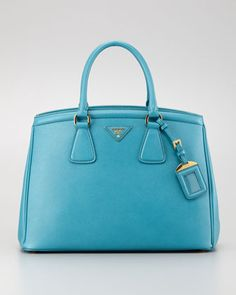 prada leather goods - Prada Medium Saffiano Promenade Bag, Blue (Royal), Women's, Size ...
