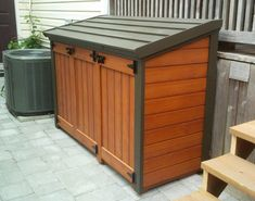 On garbage can shed plans blueprints sale. Garbage can shed plans blueprints. How To Build A Trash Shed Diy Projects Shed P. Trash Can Storage Outdoor, Outdoor Trash Cans, Outside Storage, Outdoor Storage Sheds, Garbage Can Shed, Garbage Can Storage, Diy Storage Shed Plans, Patio Storage, Storage Bins