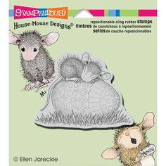 Stampendous House Mouse Cling Rubber Stamp - Easter Egg Nap