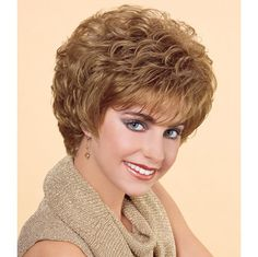 The Sweet Embrace Wig by Soft Stretch brand is available now at The Wig Company. Order by EST Monday - Friday for Same Day Shipping! Short Curly Wigs, Curly Hair Cuts, Short Hair Cuts, Curly Hair Styles, Hairstyles For Seniors, Haircuts For Fine Hair, Permed Hairstyles, Retro Hairstyles, Short Silver Hair