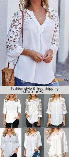 White trendy tops for women online on sale Trendy Fashion, Womens Fashion, Indian Fashion, Trendy Tops For Women, Mode Chic, White Tops, Blouse Designs, Cool Outfits, Fashion Dresses