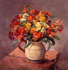 Anne Cotterill Начнем сегодняшний день с цветов Первый букет скромный , но очень весенний. Чудесные фрезии. Anne Cotterill спасибо kavery