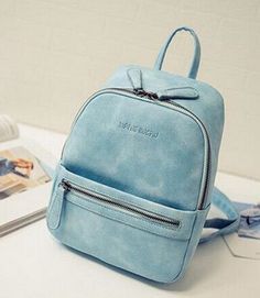 Ladies Medium-Size PU Leather Casual Fashion Multifunctional Backpack 5 Colors