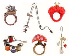 alice in wonderland/tim burton's take...jewelry...love the thread spool bracelet