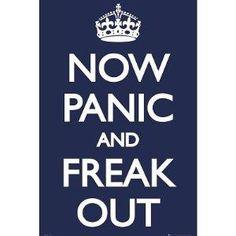 My Life.    Amazon.com: Now Panic and Freak Out Poster 24x36 UK England 33566 Poster Print, 24x36: Home & Garden    http://www.wanelo.com/entertainment/Amazon.com%3A+Now+Panic+and+Freak+Out+Poster+24x36+UK+England+33566+Poster+Print%2C+24x36%3A+Home+%26+Garden-371819.html