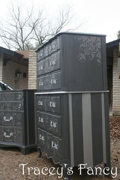 painted dressers--sides