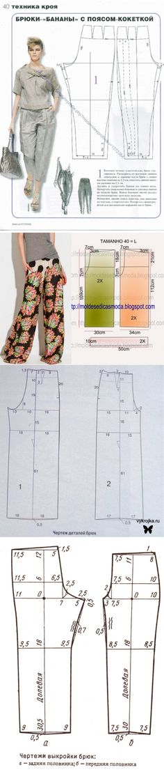 pattern of summer trousers for stout women: 21 thousand images it is found in Yandex. Pictures