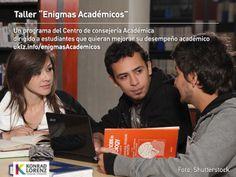 """El taller Enigmas Académicos"""" está dirigido a estudiantes que quieran adquirir habilidades y buenas prácticas de estudio y que deseen optimizar el manejo de su tiempo. Información en http://uklz.info/enigmasAcademicos"""