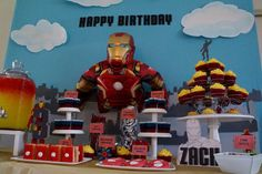 Avengers Iron Man birthday party! See more party ideas at CatchMyParty.com!