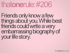 Write a story about your best friend