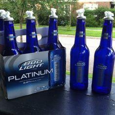 Bud Light Platinum Beer Bottle Tiki Torches