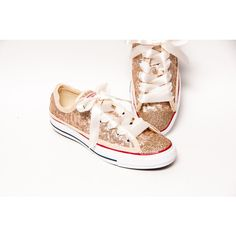 Sequin Full Champagne Gold Converse Canvas Low Top Sneakers Tennis... ($135) ❤ liked on Polyvore featuring shoes, sneakers, silver, sneakers & athletic shoes, tie sneakers, women's shoes, canvas tennis shoes, tennis shoes, tennis sneakers and glitter shoes