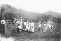 Annual cherokee ball game, Qualla Reservation, NC 1888. Old Photos - Cherokee | www.American-Tribes.com.