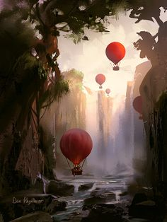 Balloon Expedition by Dan Phyillaier | Whimsical | 2D | CGSociety