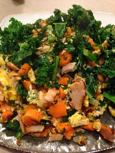 Fitness For Ever: Paleo Kale Sweet Potato and Egg Hash
