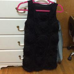 Black dress Cute floral dress! Good condition Dresses