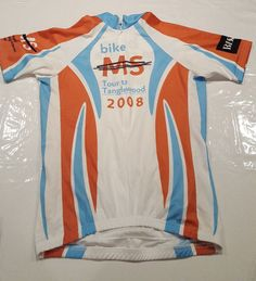 Mens Revl Bike MS Multiple Sclerosis Society Cycling Jersey Tour to Tanglewood #Revl