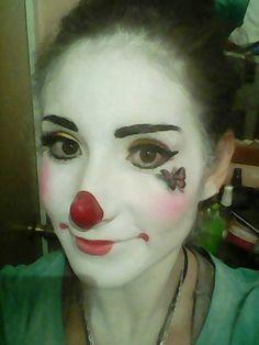 Mime Face Paint, Female Clown, Cute Clown, Clowning Around, Girls Makeup, Clowns, Folk, Halloween Face Makeup, Band