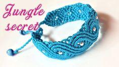 Macrame tutorial: The Jungle secret bracelet - Beautiful and elegant mac...