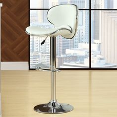 Modway Diner Adjustable Height Swivel Bar Stool with Cushion & Reviews   Wayfair
