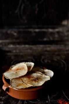 Smoky Apple Chips | fork spoon knife